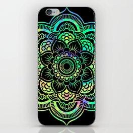 Neon Psychedelic Mandala iPhone Skin