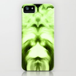 abstract psychedelic paint flow ghost face c13i iPhone Case