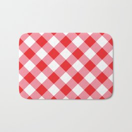 Gingham - Red Bath Mat