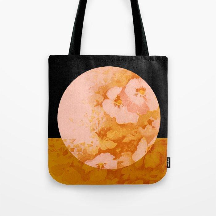 moon floral Tote Bag