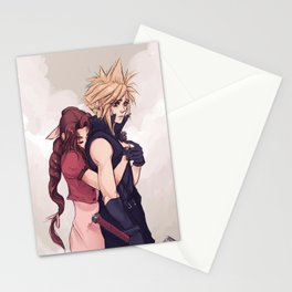 Cloud and Aerith Stationery Cards