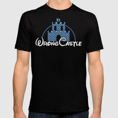 Wrong Castle Black Mens Fitted Tee 2X-LARGE