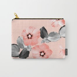 Living Coral Floral Dream #2 #flower #pattern #decor #art #society6 Carry-All Pouch