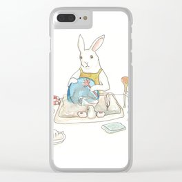 Doing the Dishes Clear iPhone Case
