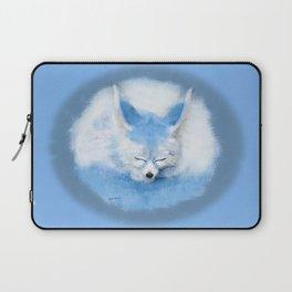 Sleeping Fennec Fox Blue Laptop Sleeve