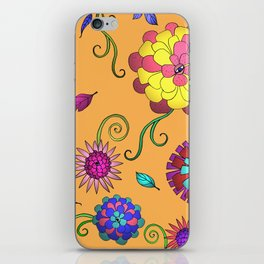 Crazy Daisy vitamin C pattern iPhone Skin