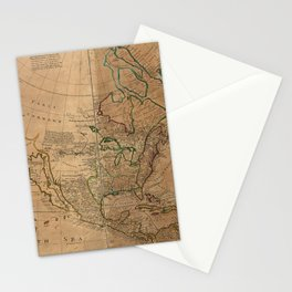 Map of North America by Herman Moll (1715) Stationery Cards