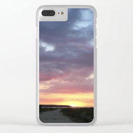 Sunset Path Clear iPhone Case