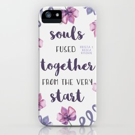souls fused together from the very start iPhone Case