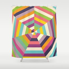 Heptagon Quilt 1 Shower Curtain