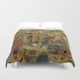 Abstract  Vintage Playing Cards Digital art Duvet Cover