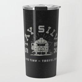 """Stay Silver"" Retro Type (1 color) Travel Mug"
