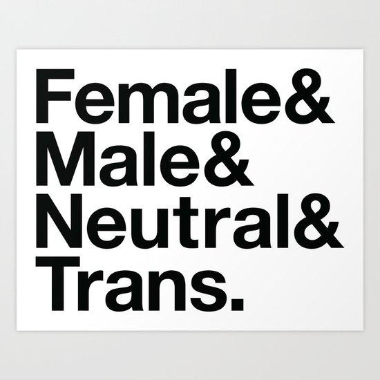 All Equal Genders Art Print