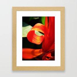 Mhm..Orange. Framed Art Print