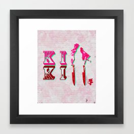 kiss/kill Framed Art Print