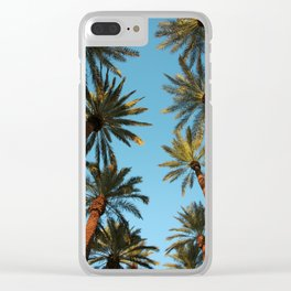 Palm trees, Vegas Clear iPhone Case