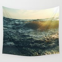 return Wall Tapestries featuring Return To Me  by Chelsea Victoria