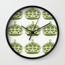 Crowns Wall Clock