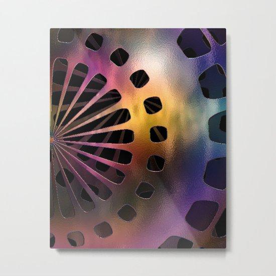 Metal Space Sphere Metal Print