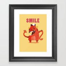 :::Smile Monster::: Framed Art Print
