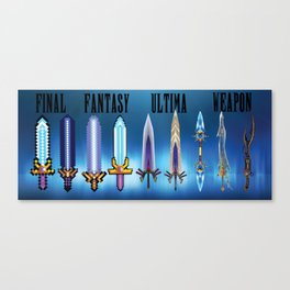 Final Fantasy - Ultima Weapons Canvas Print