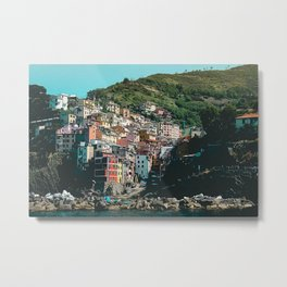 Colored Houses of Italy Metal Print