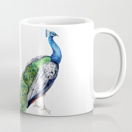 Green Peacock Coffee Mug