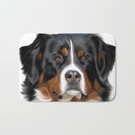 BERNESE MOUNTAIN DOG ART Bath Mat