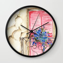 Balcony in France Wall Clock