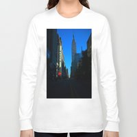 gotham Long Sleeve T-shirts featuring Gotham City by The Electric Blve / YenHsiang Liang