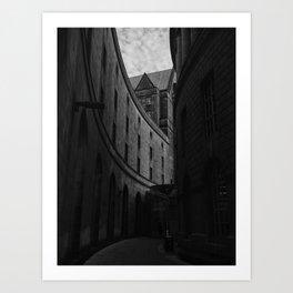 Dark Monochrome Manchester Architecture. Art Print
