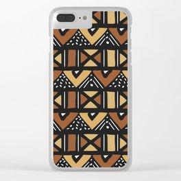 Mud cloth Mali Clear iPhone Case