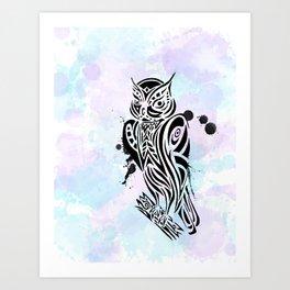 Owl Tribal Art Print