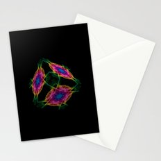 Oriental Smoke 3D Cube Stationery Cards