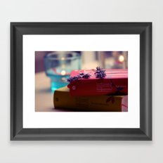 Rain, Hesse and Lavender Framed Art Print