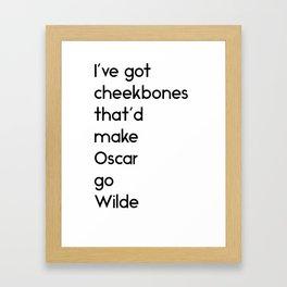 Cheekbones Framed Art Print