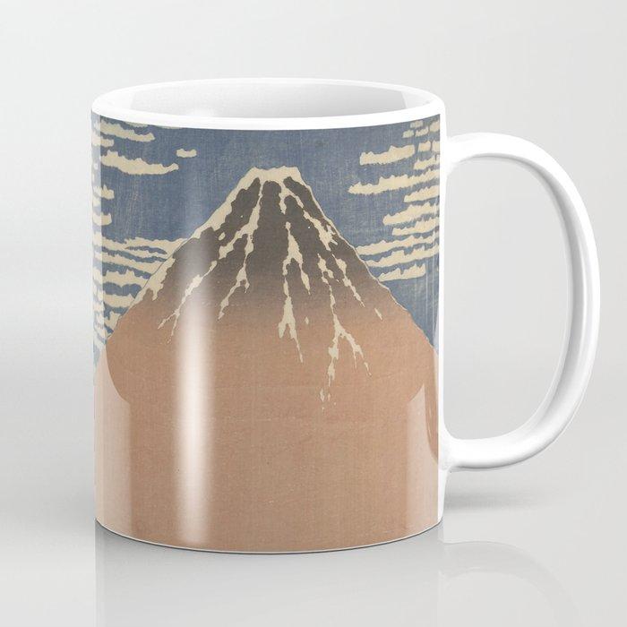 Clear weather and a southern wind - Katsushika Hokusai (1829-1833) Coffee Mug