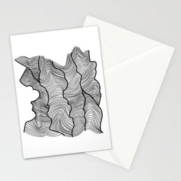 Contour Lines Stationery Cards