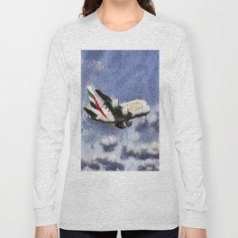 Emirates A380 Airbus Art Long Sleeve T-shirt