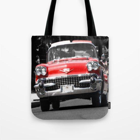 Red, Car Tote Bag