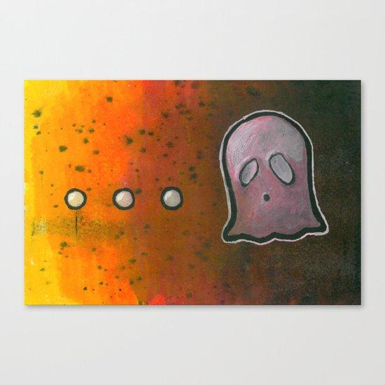 dot dot dot GHOST! Canvas Print