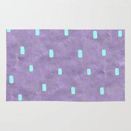 Purple Cute Simple Turquoise Pattern Rug