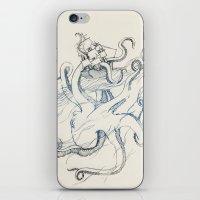 kraken iPhone & iPod Skins featuring Kraken by Kyle Naylor