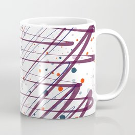Maroon Splatter Pattern Coffee Mug