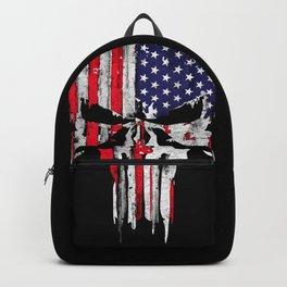 Grunge USA skull Backpack