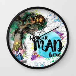 Alice in Wonderland - We're All Mad Here Wall Clock