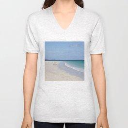 Beach 3 Lewis and Harris 3 Unisex V-Neck