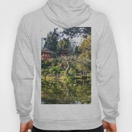 Japanese Garden | Golden Gate Park Traditional Tea House Architecture Design Trees and Pond Hoody