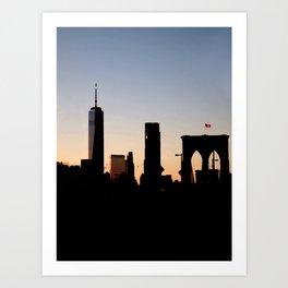 Brooklyn Bridge Skyline Art Print