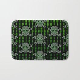 Hacker Skull Crossbones (pattern version) Bath Mat